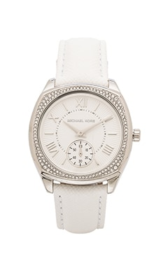 Michael Kors Bryn in Silver & White