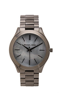 Michael Kors Slim Runway Watch in Gunmetal