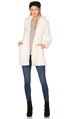 Marquise Faux Fur Coat in Ivory