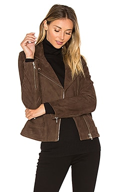 Visioni Suede Jacket in Tabac