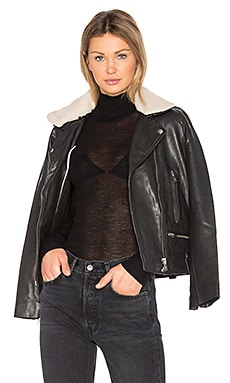Vulcania Faux Sherpa Leather Jacket