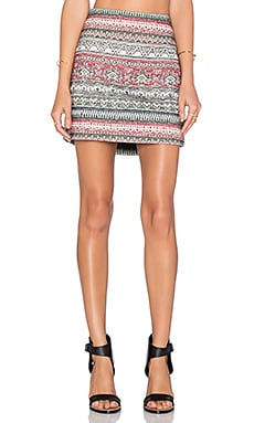 Jonki Mini Skirt in Craie