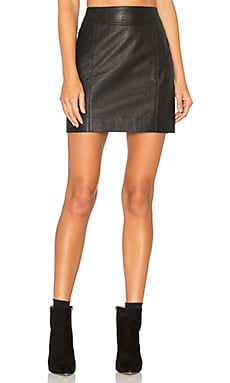 Jalpa Leather Skirt in Black