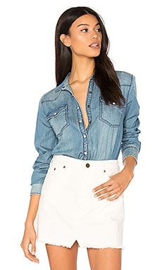 Cassimi Button Up in Blue Indian Wash