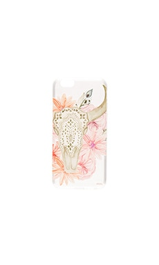 Boho Skull iPhone 6/6s Case in Pink