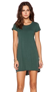 Michael Lauren Cuba T Shirt Dress in Dark Green