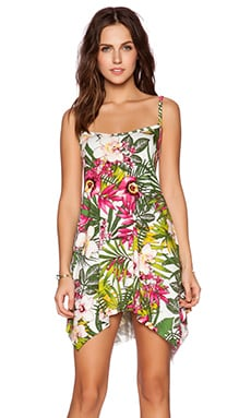 Michael Lauren Lang Tunic Dress in Pink Jungle