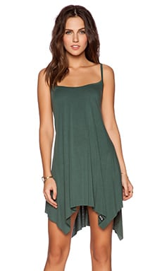 Michael Lauren Lang Tunic Dress in Dark Green