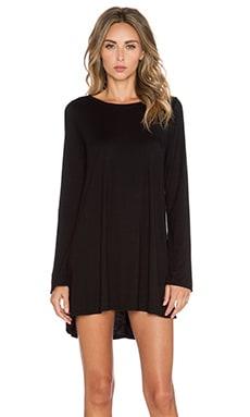 Michael Lauren Harvest Long Sleeve Dress in Black