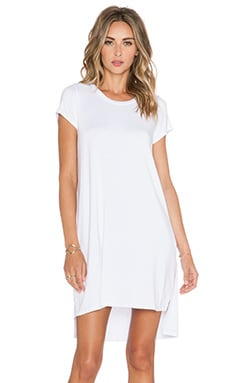 Michael Lauren Lucky Side Slit Dress in White