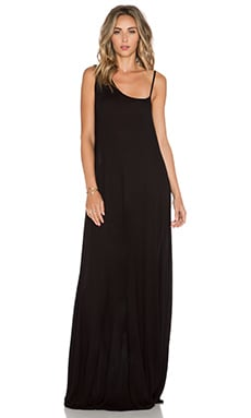 Michael Lauren Dutch One Shoulder Strap Dress in Black