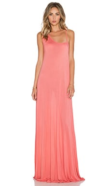 Michael Lauren Dutch One Shoulder Strap Dress in Tea Rose