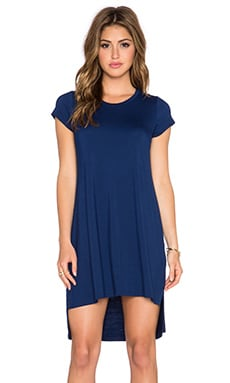 Michael Lauren Lucky Side Slit Dress in Blue Magic