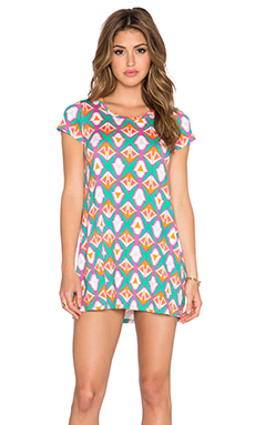 Michael Lauren Cuba T Shirt Dress in Bermuda Triangle