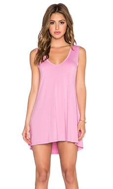 Michael Lauren Diamond V Neck Dress in Double Bubble