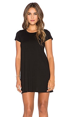 Michael Lauren Cuba Mini Tee Dress in Black