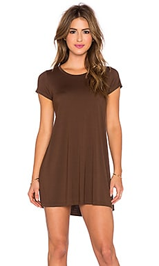 Michael Lauren Cuba Mini Tee Dress in Cocoa