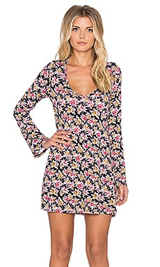 Michael Lauren Kyle Long Sleeve V Neck Dress in Fall Floral