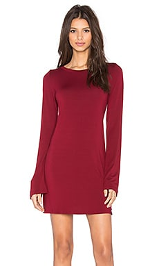Michael Lauren Rocket Long Sleeve Dress in Rouge