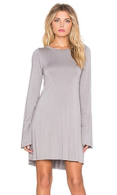 Harvest Long Sleeve Dress in Willow Grey