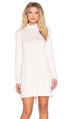Michael Lauren Leo Turtleneck Mini Dress in Blush Almond