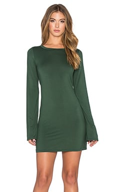 Michael Lauren Rocket Long Sleeve Dress in Dark Moss