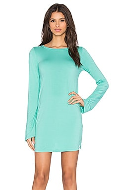 Michael Lauren Rocket Long Sleeve Crew Neck Dress in Light Jade