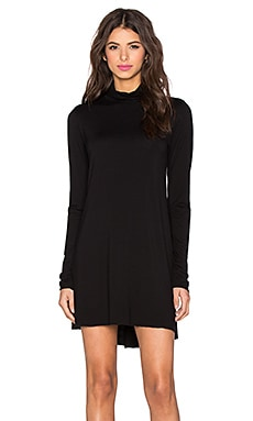 Michael Lauren Leo Turtleneck Mini Dress in Black