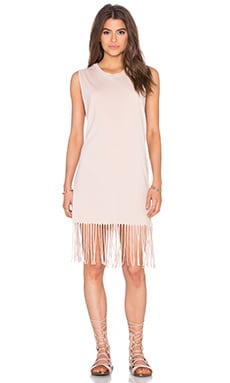 Michael Lauren Dot Dress in Champagne