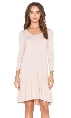 Michael Lauren Nash 3/4 Sleeve Ruffle Dress in Champagne