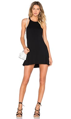Michael Lauren Scotty Mini Dress in Black