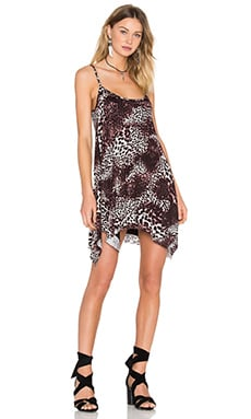 Michael Lauren Lang Spaghetti Tunic Dress in Dark Leopard