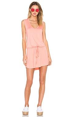 Michael Lauren Joop Mini Dress in Pink Salmon