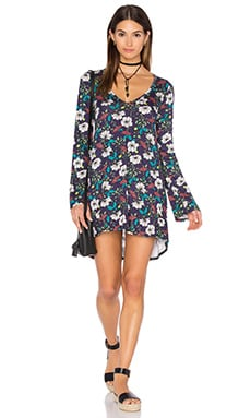 Michael Lauren Kyle Long Sleeve Dress in Midnight Floral