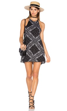 Michael Lauren Scotty High Neck Mini Dress in Bandana