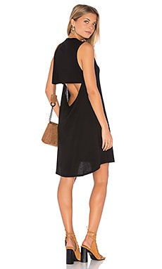 Michael Lauren Cyd Open Back Dress in Black