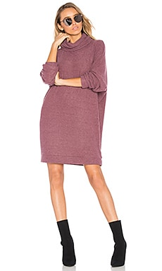 Vargus Turtleneck Dress in Sangria