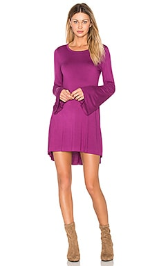 Kipp Bell Sleeve Mini Dress in Sugar Plum
