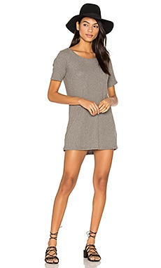 Eden Mini Dress in Heather Grey