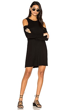 Radford Open Shoulder Dress in Black