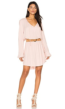 Quintin Long Sleeve Dress in Pink Ash