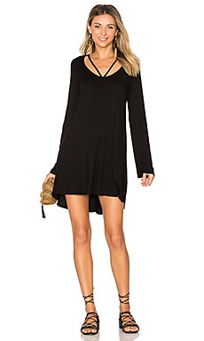 Bailor Cut Out Neck Dress in Black