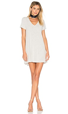 Finnick T Shirt Dress in White & Black Stripe