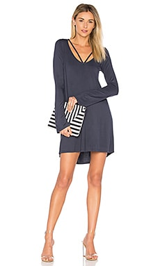 Bailor Cut Out Neck Dress in Ashnight