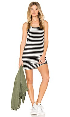 Rory Tank Dress in Black Stripe