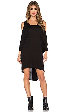 Michael Lauren Perry Open Shoulder Dress in Black