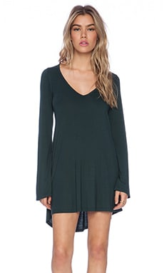Michael Lauren Kyle V-Neck Dress in Dark Forest