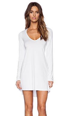 Michael Lauren Kyle V Neck Dress in White