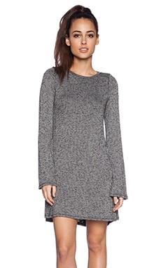Michael Lauren Harvest Long Sleeve Dress in Grey