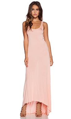 Michael Lauren Raven Asymmetrical Dress in Peach Sky